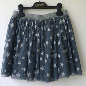Honey Glitter Star Tulle Skirt